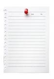 Lista de tumulto em branco da nota Fotos de Stock