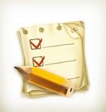 Lista de verificação, ícone Imagens de Stock Royalty Free