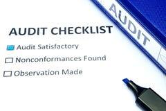 Lista de verificação da auditoria Foto de Stock Royalty Free