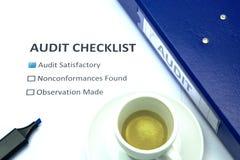 Lista de verificação da auditoria Imagem de Stock