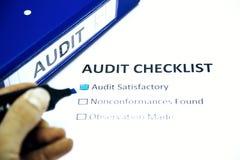 Lista de verificação da auditoria Foto de Stock