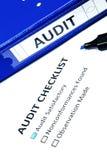 Lista de verificação da auditoria Imagens de Stock Royalty Free