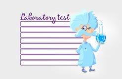 Lista de verificação de tarefa do laboratório Fotografia de Stock