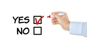 Lista de verificação - sim ou não ilustração stock