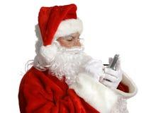 Lista de verificações de Santa em PDA foto de stock