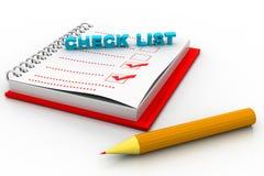 Lista de verificación Imagen de archivo libre de regalías