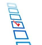 Lista de verificación con la marca de verificación roja Imágenes de archivo libres de regalías