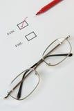 Lista de verificación - paso Imagen de archivo