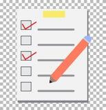 Lista de verificación transparente Icono de la lista de control Fotos de archivo libres de regalías
