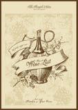 Lista de vinho Imagens de Stock Royalty Free