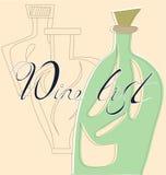 Lista de vinho Fotografia de Stock Royalty Free