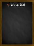 Lista de vinho em um quadro-negro quadro Fotos de Stock Royalty Free