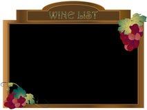 Lista de vino Fotografía de archivo