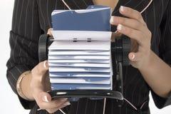 Lista del contatto Fotografia Stock