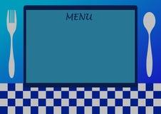 Lista del menú Foto de archivo libre de regalías