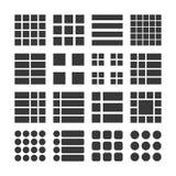 Lista del menú de los iconos, ejemplo del vector Imagen de archivo libre de regalías