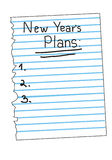 Lista del plan del Año Nuevo del vector Fotografía de archivo libre de regalías