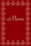Lista del ristorante dei piatti Fotografia Stock Libera da Diritti
