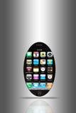 lista den smart telefonskärmen Arkivbild