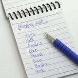 Lista di acquisto Fotografia Stock