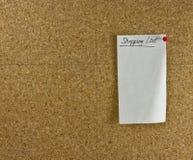 Lista di acquisto fotografia stock libera da diritti