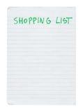 Lista di acquisto immagine stock libera da diritti