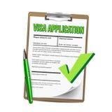 Lista di applicazione di visto del vettore di carta della lavagna per appunti royalty illustrazione gratis