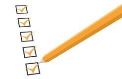 Lista di assegno. Fotografia Stock