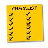 Lista di controllo Fotografia Stock