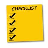 Lista di controllo Fotografie Stock