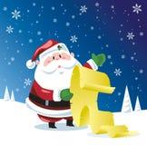 Lista di controllo del Babbo Natale Fotografie Stock Libere da Diritti