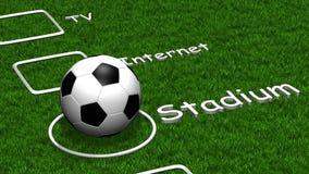 Lista di controllo di gioco del calcio Fotografia Stock