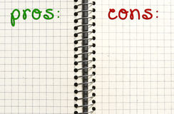 Lista di controllo o concetto di ricordo Immagini Stock Libere da Diritti