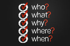 Lista di domanda Immagini Stock Libere da Diritti