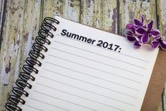 Lista di estate 2017 Fotografia Stock