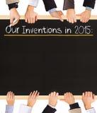 Lista di invenzioni Fotografia Stock Libera da Diritti
