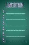 Lista di limitazione illustrazione di stock