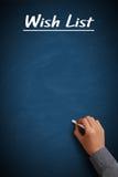 Lista di obiettivi in bianco Fotografia Stock Libera da Diritti