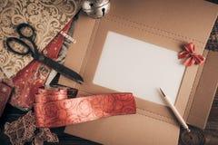 Lista di obiettivi di natale per Santa fotografie stock