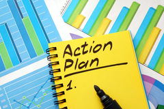 Lista di piano d'azione immagine stock libera da diritti