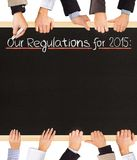 Lista di regolamenti Immagini Stock