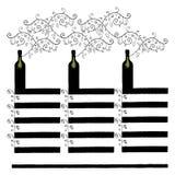Lista di vino con tre colonne Immagini Stock Libere da Diritti