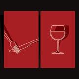Lista di vino e disegno del menu Immagini Stock Libere da Diritti
