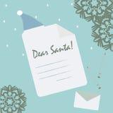 Lista do gifl de Santa para você Fotografia de Stock