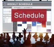 Lista do planeamento de organização da programação para fazer o conceito imagem de stock royalty free