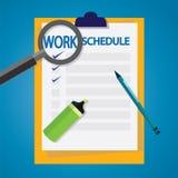 Lista do programa de trabalho Imagem de Stock