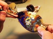 Lista do vidro Venetian Fotografia de Stock Royalty Free