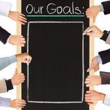 Lista dos objetivos Fotografia de Stock Royalty Free