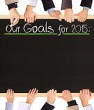 Lista dos objetivos Imagem de Stock
