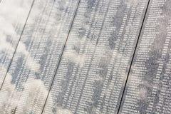 Lista dos soldados soviéticos caídos no cemitério militar de Slavi Fotografia de Stock Royalty Free